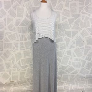 Chelsea & Theodore Maxi Layered Dress Large